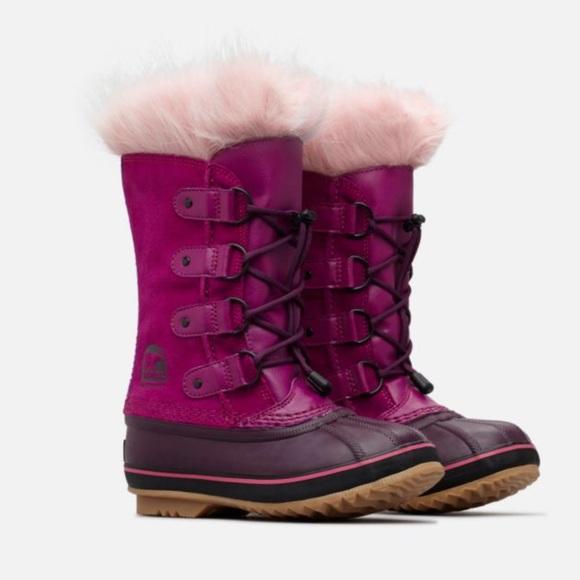 e6e01e5137445 NEW • Sorel • Big Girls Joan Of Arctic Boots Pink